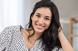 Young woman with healthy smiel